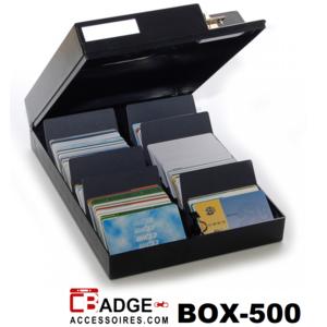 Kaartenbox afsluitbaar 500 Kaarten