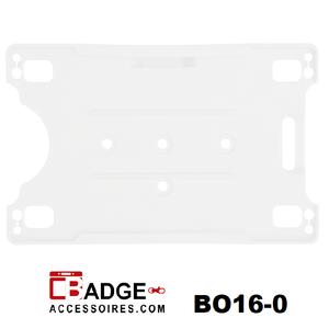 Badgehouder excellent open horizontaal & verticaal mat transparant