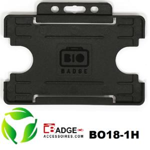 BioBadge Open horizontaal zwart (leverbaar in 10 kleuren, zie info)