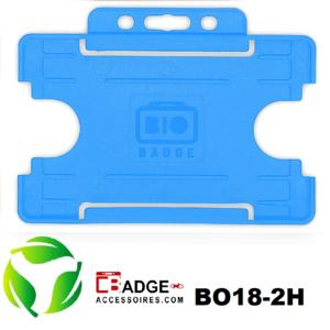 BioBadge Open horizontaal licht blauw