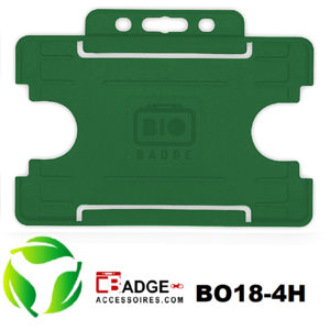 BioBadge Open horizontaal groen