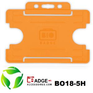 BioBadge Open horizontaal oranje