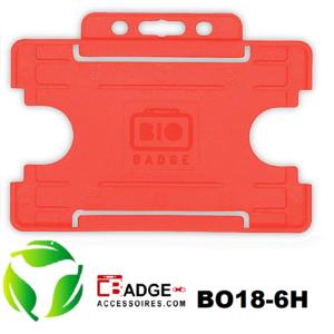 BioBadge Open horizontaal rood