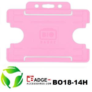 BioBadge Open horizontaal roze