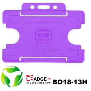 BioBadge Open horizontaal paars