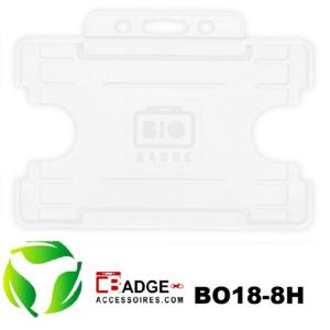 BioBadge Open horizontaal wit