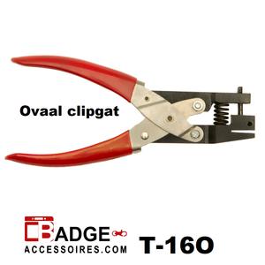 Perforator tang handmodel ovaal clipgat