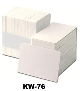 Kunststof kaart 0.76 mm wit onbedrukt per 100 stuks.
