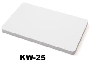 Kunststof kaart 0.25 mm wit onbedrukt per 100 stuks.