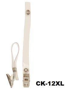 Badgeclip kroko-knijper helder bandje XL (130 mm.)