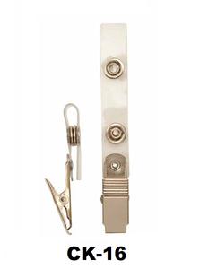Badgeclip kroko-knijper helder bandje (knijper dicht)