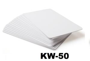 Kunststof kaart 0.5 mm wit onbedrukt per 100 stuks.