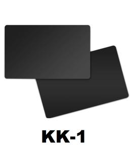 Kunststof kaart 0.76 mm dubbelzijdig zwart onbedrukt per 100 stuks.