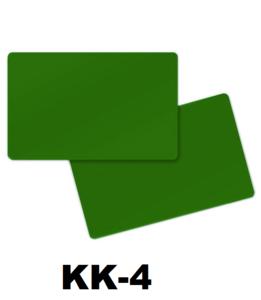 Kunststof kaart 0.76 mm dubbelzijdig groenl onbedrukt per 100 stuks