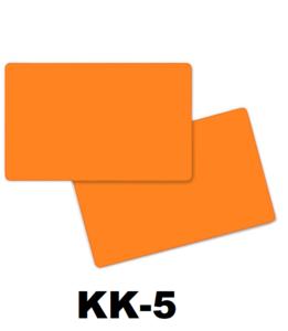 Kunststof kaart 0.76 mm dubbelzijdig oranje onbedrukt per 100 stuks