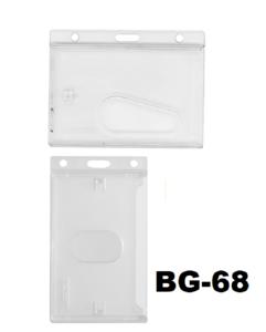 Badgehouder Cardkeep Standaard geheel mat transparant