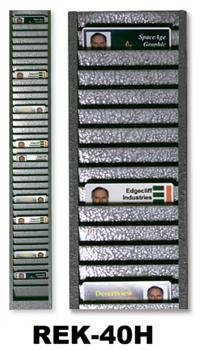 Metalen kaartenrek 40 pasjes horizontaal