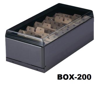 Kaartenbox 200 kunststof kaarten