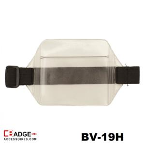 Arm badgehouder inclusief zwart elastisch bandje - horizontale draagwijze