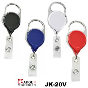 Premium Karabijn jojo met karabijn-haak voorzien van extra lang nylon koord van 91.5 cm.