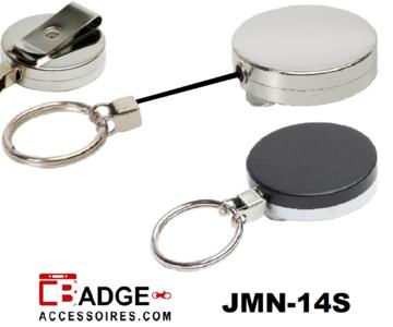 Professionele metalen jojo (43 x 10 mm), stevige riemclip, dik 85 cm nylon koord & 30 mm sleutelring