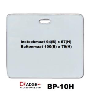 Proximity vinyl badgehouder horizontale draagwijze