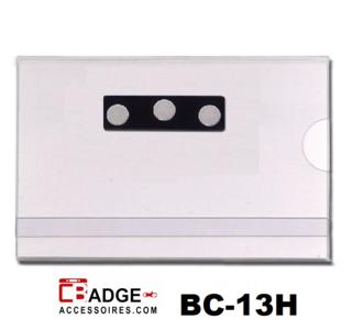 Congres pasjeshouder voorzien van magneet. 1 creditkaartformaat kaart