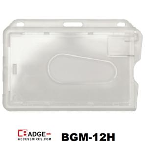 Magneetstrip badgehouder helder transparant horizontale draagwijze