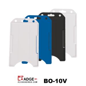 Verticale semi-harde kunststof kaarthouder met open voorzijde zodat uw identiteit- of bedrijfskaart goed zichtbaar is.