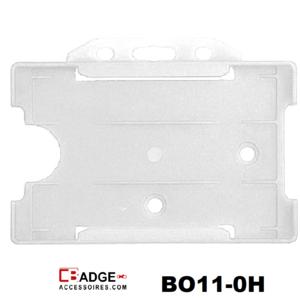 Zeer licht van gewicht semi-harde melk transparant kunststof kaarthouder met open voorzijde zodat uw identiteit- of bedrijfskaa