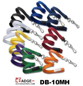 Zacht dubbel gevlochten draagkoord / lanyard 10 mm breed met metalen draaihaak en veiligheidssluiting