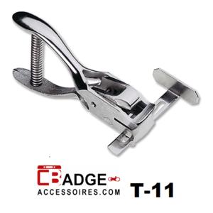 Professionele hand perforator tang met maatschuif om precies een ovaal clipgat of gleuf in uw kaart te maken