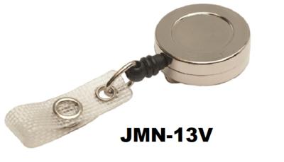 Metalen chromen MINI-jojo heeft een stevige RIEMCLIP, versterkt bandje en een 75 cm NYLON KOORD