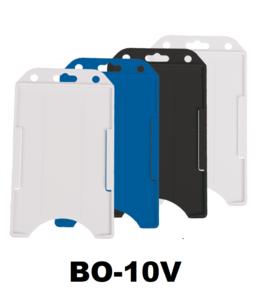 d0a32190c5c Verticale semi-harde kunststof kaarthouder met open voorzijde zodat uw  identiteit- of bedrijfskaart goed