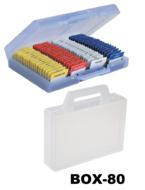 Kunststof kofferommax.80 badgesvoor beurs, congres of andere evenementen